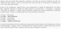 Caiu na net fotos Juliana Sena Miss Simpatia de Matozinhos MG