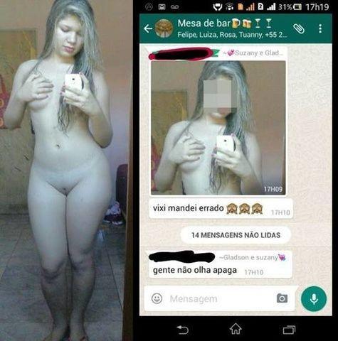 Novinha loira mandou nudes pelada pro namorado e vazou - MG