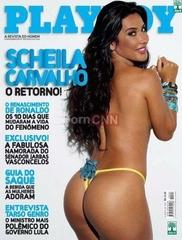 Famosa Scheila Carvalho Pelada na Revista Playboy Abril 2009
