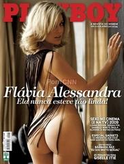 Famosa Flavia Alessandra Pelada na Revista Playboy Dezembro 2009