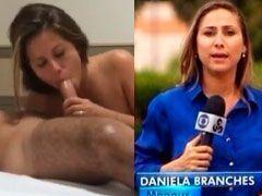 Caiu na net Daniela Branches repórter da TV Globo fazendo sexo