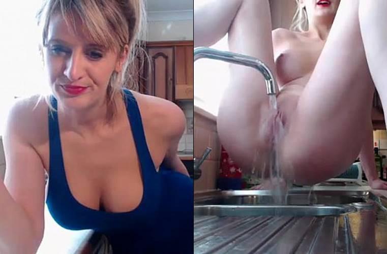 Vídeo dona de casa safada exibindo pelada na internet #2