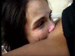 Vídeo fazendo empregada de escrava mandando chupar buceta
