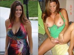 Vídeo montagem mulheres amadoras vestida e despida peladas #1