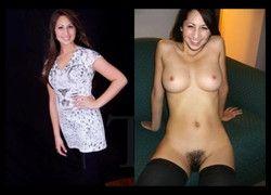 Vídeo montagem mulheres amadoras vestida e despida peladas #10