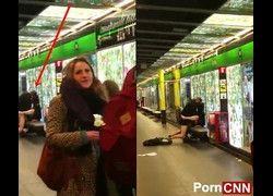 Flagra putaria casal se comendo no metro de Barcelona caiu na net