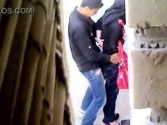 Filmando escondido mulher da arabia transando rápido na beco