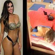 Caiu na net Nicole Bahls pagando peitões trocando de roupa