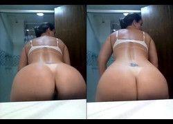 Vídeo Bia Figueredo rebolando bumbum sem calcinha no banheiro