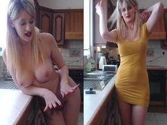 Vídeo dona de casa safada exibindo pelada na internet #1