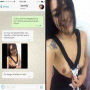 Video Kamily novinha amadora caiu no WhatsApp mostrando peitos grandes no Zapzap - WhatsApp